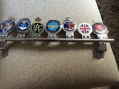C1950S VINTAGE J.R.GAUNT MADE R.A.F.ENAMEL CAR BADGE And Others