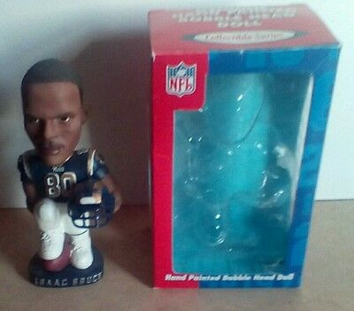 Issac Bruce Hand Painted Bobblehead Doll St. Louis Rams New