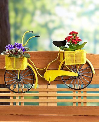 Railing Flower Planter Vintage Bicycle Shaped - Deck Porch Rail Home and Garden