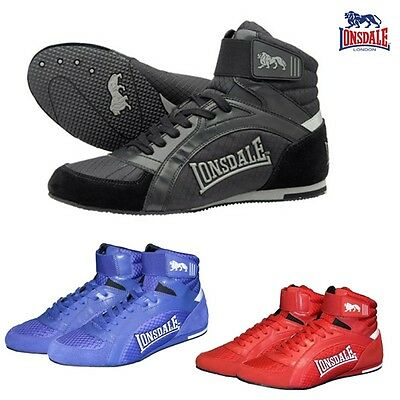 Lonsdale Men's Boxing shoes Swift Training shoes Boxes REAL LEATHER Size 3 -13