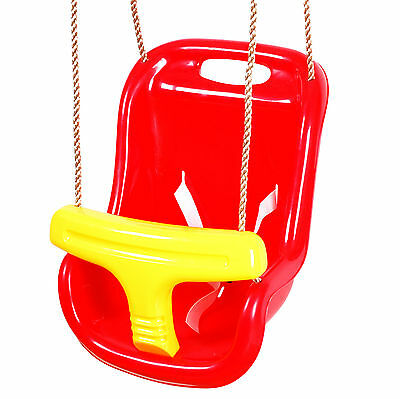 High Quality CE Cert Baby Toddler Swing Seat With Rope And Back Support Outdoor