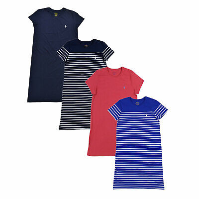 19c7332a0e POLO RALPH LAUREN Womens T Shirt Dress Jersey Knee Length Lightweight Crew  Neck