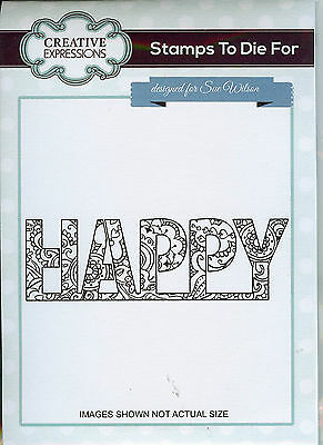 Sale - Creative Expressions - Stamps To Die For - Happy Hearts & Flowers