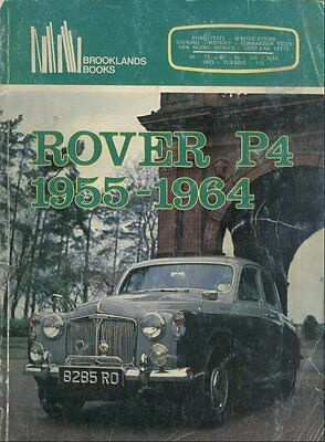 Rover P4 60 75 80 90 100 105R 105S & 110 ( 1955 - 1964 ) Period Road Tests Book