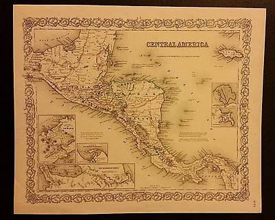 1855 Map of Central America