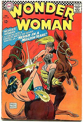WONDER WOMAN #168 1967-girl fight cover-DC SILVER AGE- G/VG