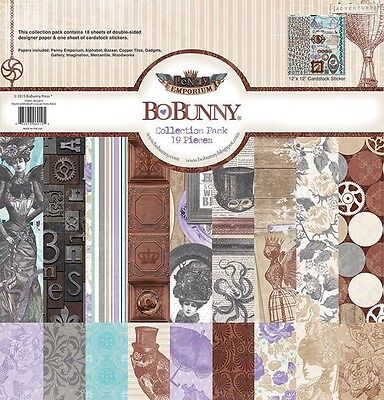 Bo Bunny Penny Emporium 12X12 Collection Kit Pack Scrapbooking Paper