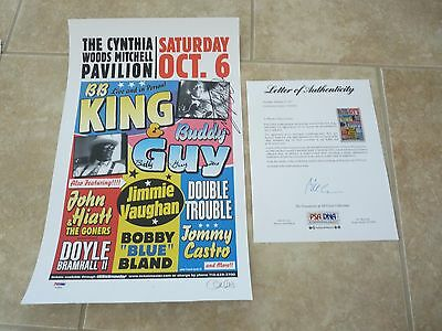 BB King & Buddy Guy Blues Signed Autographed 12x19 Concert Poster PSA Certified