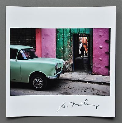 Steve McCurry Magnum Archival Square Photo Print 15x15cm Havana Cuba 2010 Signed