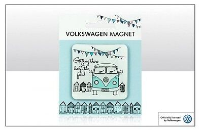 VW 'Getting there is half the fun' Campervan Epoxy Magnet - VW Licensed Product