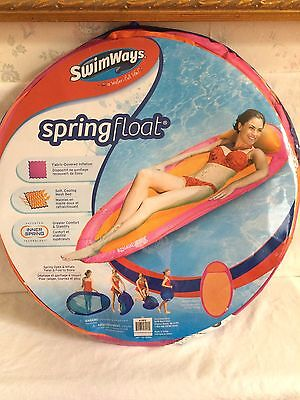 Swimways  Spring Pool Float Pink & Orange Weight To 250 Lbs Ages 15+