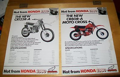 Honda Cr125R-A & Cr80R-A Moto Cross Motorcycle Specification Flyers 1980 (2)