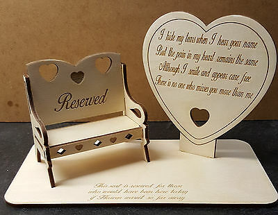 Loved One Memorial Decoration Plaque, Personalised Chair,  for year round use