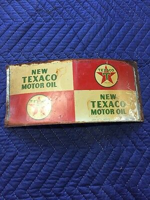 Flattened Unrolled Quart Oil Cans Texaco