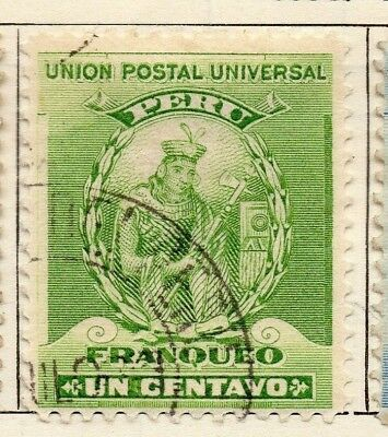 Peru 1896 Early Issue Fine Used 1c. 128704
