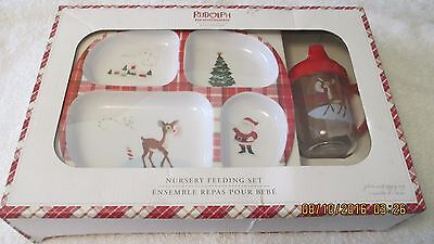 Pottery Barn Kids Rudolph The Red Nosed Reindeer Nursery Feeding Set Cup Plate