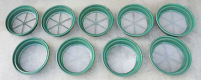 9pc Classifier Sifting Pan Set Screen Pan Gold Gem Panning Mining Prospecting