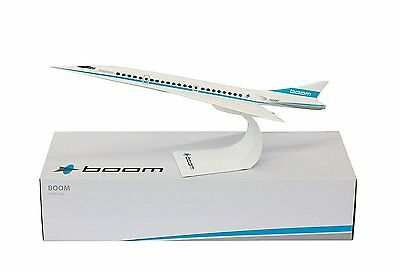 Boom Supersonic Desk Top Display House Livery Jet Model 1/125 Aircraft Airplane
