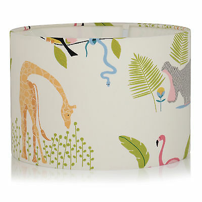 Childrens Nursery Hippo/Giraffe/Flamingo Jungle Animals,Ceiling,Table Lamp Shade