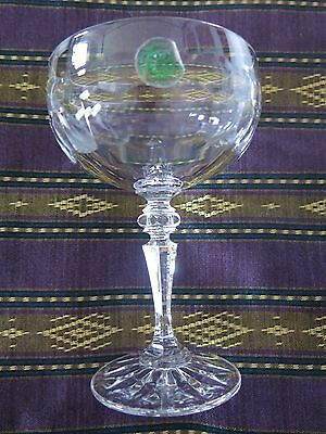 Galway Irish Crystal 4 Champagne Saucers, Sherbets, Cocktail, Toasting Glasses