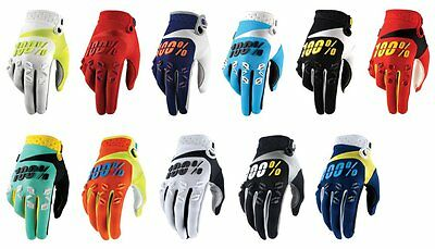100% Mens Airmatic MX Motocross Offroad Riding Gloves