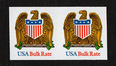 Usa, Scott # 2603A, Pair Of Imperf Stamps Eagle & Shield Bulk Rate, Mnh