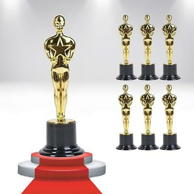 Hollywood Award Gold Trophy 6PK Oscar-Inspired VIP Party Favor Novelty CHOP