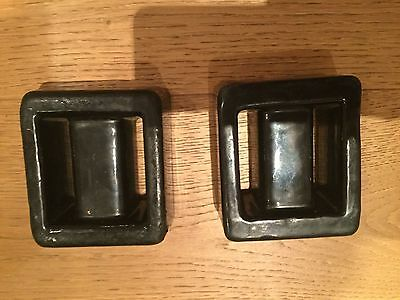 2 x Lumb Lead Covered dive weights - 2kg each - black - RRP new £36