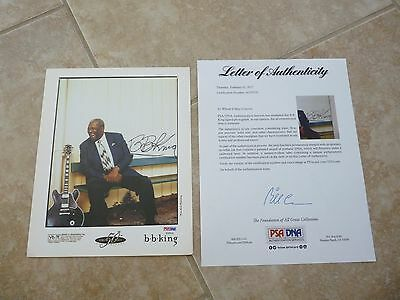 BB King Blues Live Signed Autographed 8x10 Photo PSA Certified #4