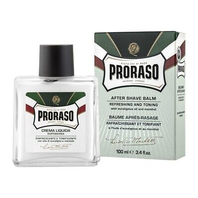 Proraso Green After Shave Balm Alcohol Free with Eucalyptus Oil and Menthol 100m