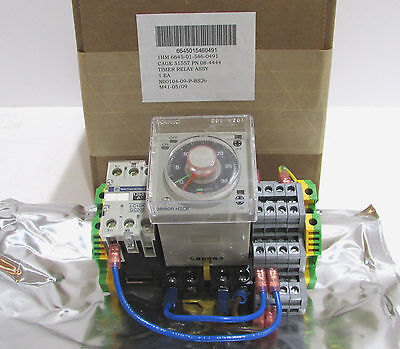 OMRON H3CR-F8 Telemecanique LC1SK GC200 Timer Relay Assembly NIB