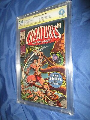 CREATURES ON THE LOOSE #10 CBCS 7.0 SS Signed Bernie Wrightson CGC/1st King Kull