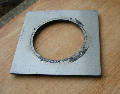 "cast 4x4"" metal  lens board panel for copal 3 with 64mm  hole"