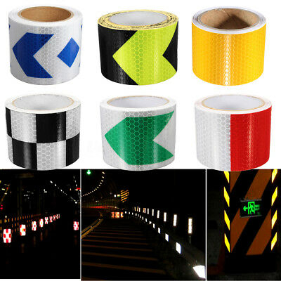 3/5M Reflective Safety Warning Conspicuity Tape Sticker Roll Film Trailer US
