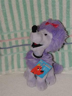 "Clifford the big Red dog Girlfriend CLEO purple poodle plush 11""  Tag Kohls 2003"