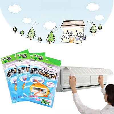 2X NEW Home Bedroom Air Conditioning Filters Anti-dust Filter Mesh Air Cleansing