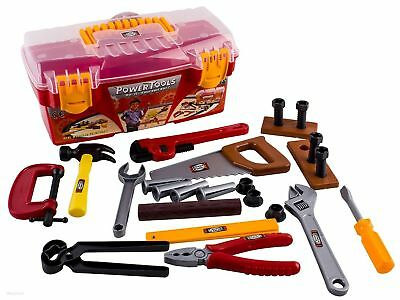 WolVol 26-piece Tool Box Set with Removable Tool Tray, Fun Kids Game, New