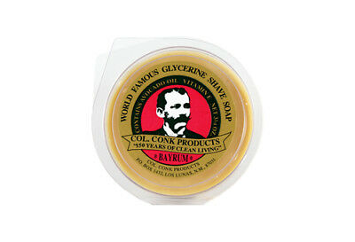 Colonel Ichabod Conk Glycerine Shave Soap: Bay Rum 106g