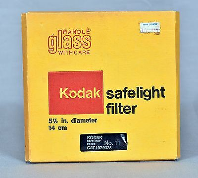 Kodak Safelight Filter No. 11 for Infrared (IR) - 5 1/2 in.  New, Old Stock