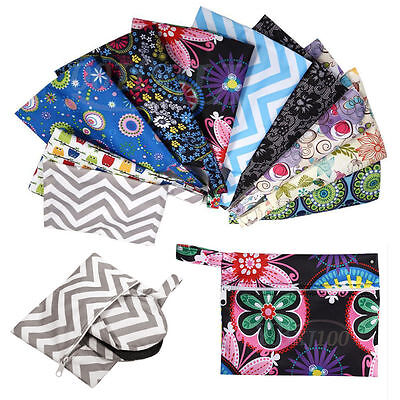 Menstrual TPU Polyester Waterproof Cloth Reusable Sanitary Diaper Pad Bags Pouch