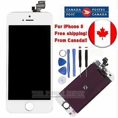 Replacement For iPhone 5 White LCD Touch Screen&Digitizer Display Assembly CA