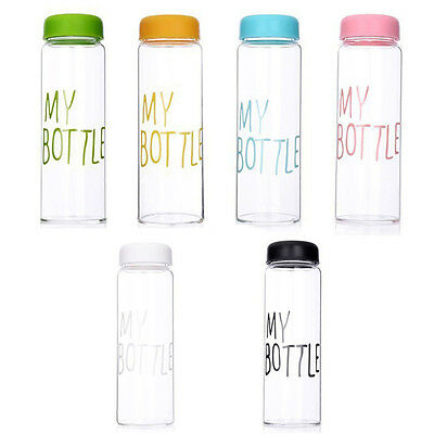 New Colorful My Bottle Fruit Juice Sports Portable Travel Bottle Water Cup 550ml