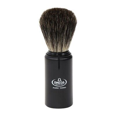 Omega Pure Boar Bristle Travel Shaving Brush: Black 50014