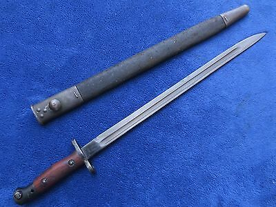 British Model 1907 Bayonet And Original Scabbard Made By Sanderson