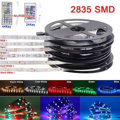 5M 10M 15M 5050 2835 SMD RGB Warm/Cool White Red Green Blue LED Strip Light IP65