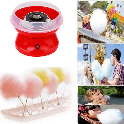 ELECTRIC CANDYFLOSS MAKING MACHINE HOME COTTON SUGAR CANDY FLOSS MAKER Red