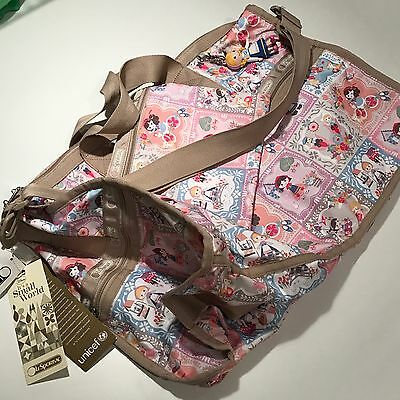 Lesportsac Disney IASW Small World Well Wishes Large Weekender Charm NWT