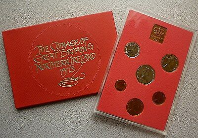 1973 Great Britain / Northern Ireland Uk Proof Set (6) - British Decimal Coins