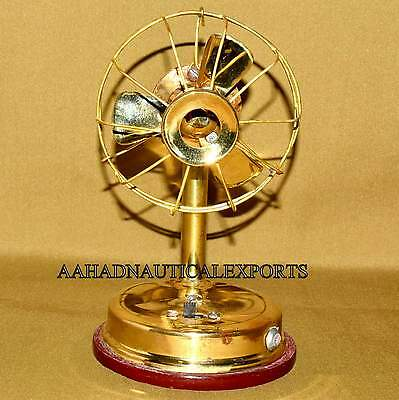 Small Brass Table Fan Battery Operated Best Gift Item