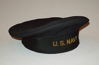 7078e3efce2 ... spain beautiful vtg wwii us navy 1940s usn flat hat crackerjack flat cap  very nice 6100e